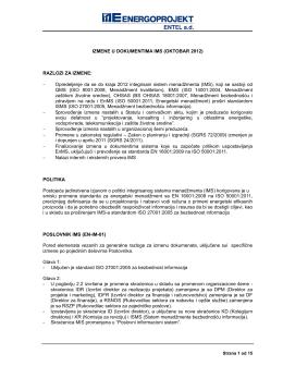 Izmene u dokumentima IMS_oktobar 2012