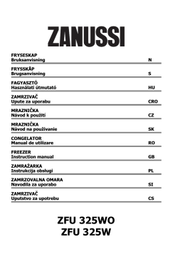 Zanussi ZFU 325 WO Fridge Freezer Operating Instructions User