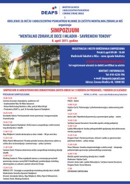 poster - Društvo za dečju i adolescentnu psihijatriju i srodne struke