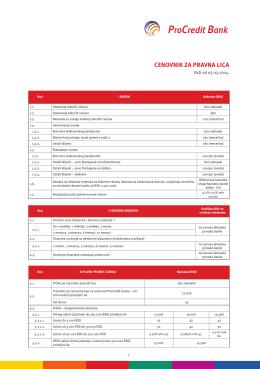 CENOVNIK za Pravna lica 2014-03.indd