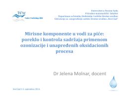 poreklo i kontrola sadržaja (ozonizacijom/AOPs