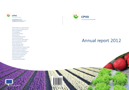 Annual report 2012 - CPVO