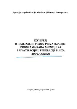poduzete aktivnosti za poduzeća iz plana za 2009