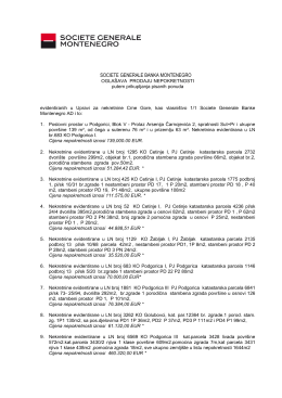 OGLAS 211114 - Societe Generale Montenegro