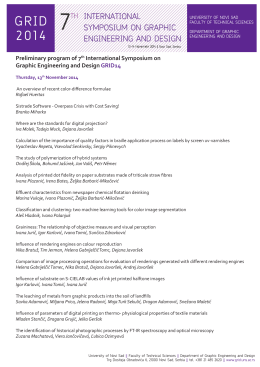 Preliminary program of 7th International Symposium on Graphic