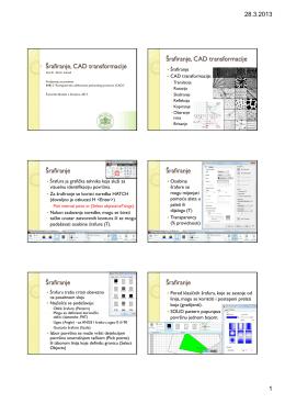 Šrafiranje, CAD transformacije Šrafiranje, CAD transformacije