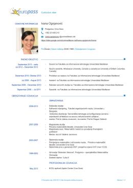 doc. dr Ivana Ognjanović - Fakultet za informacione tehnologije