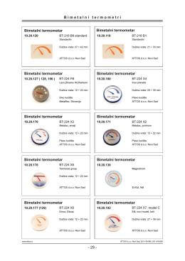 Termometri i Termomanometri