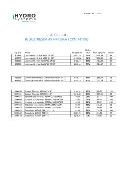 AKCIJA - industrijska armatura i crni fiting