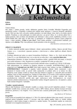 8/2014 zdarma Vážení občané, léto máme v plném