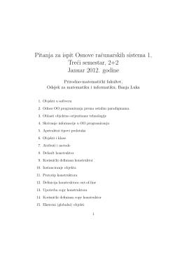 Pitanja za ispit Osnove racunarskih sistema 1, Treci semestar, 2+2