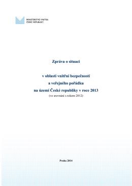 Zpráva o situaci v oblasti vnitřní bezpečnosti a