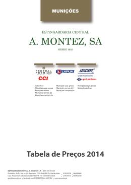 Tabela de Preços 2014