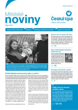 10/2014 Říjen - Městské noviny Česká Lípa