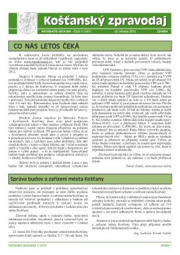 Košťanský zpravodaj – březen 2012