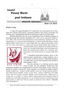 Říjen 2012 - Řád maltézských rytířů