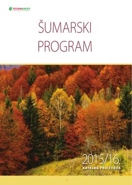 Šumarski program - katalog proizvoda za 2015. godinu.