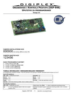 Paradox Digiplex DGP848 instalaterski / Srp.