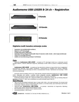 Audiomemo USB LOGER 8-24 ch – Registrofon