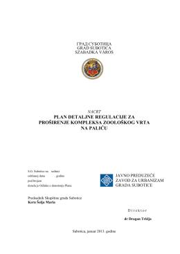 Plan detaljne regulacije za proširenje kompleksa