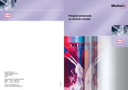 Pregled proizvoda za obradu metala