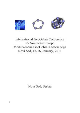 GCSE2011 Conference Proceedings - GeoGebra Institute of Novi Sad