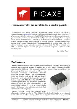 PICAXE – mikrokontrolér pro začátečníky a snadné