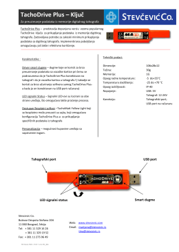 TachoDrive Plus – Ključ