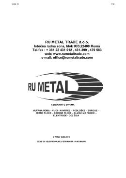 cenovnik ru metal trade