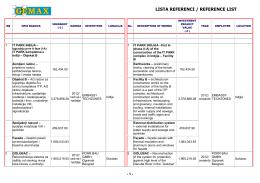 Gemax lista referentnih objekata