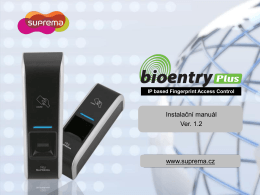 Manuál - Biometrie