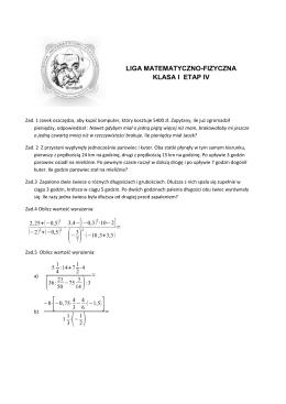 liga matematyczno-fizyczna klasa i etap iv