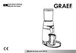 588-GRAEF Młynek do kawy CM 702 - Instrukcja