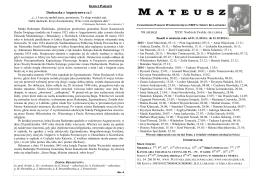 mateusz - Parafia Wniebowzięcia Najświętszej Maryi Panny w Izbicy