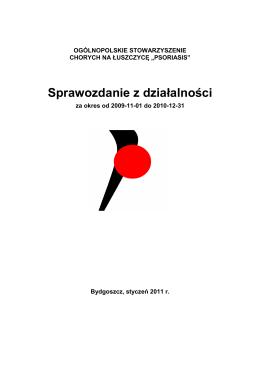 sprawozdanie psoriasis za 2010 - Wiadomości