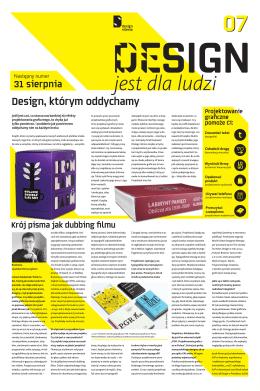 Design jest dla ludzi. 07 / lipiec 2012