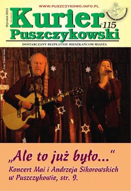 Kurier 115-fonty.indd - Stowarzyszenie Przyjaciół Puszczykowa
