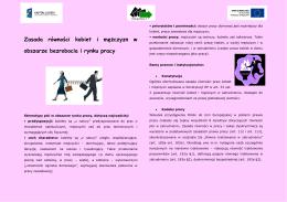 Zasada równości kobiet i mężczyzn w obszarze bezrobocia i rynku