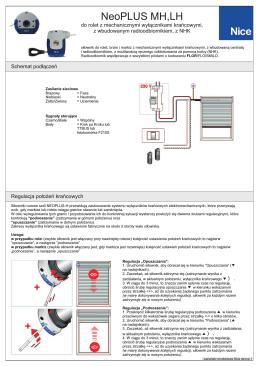 Instrukcja podłączenia i programowania silnika Nice PLUS