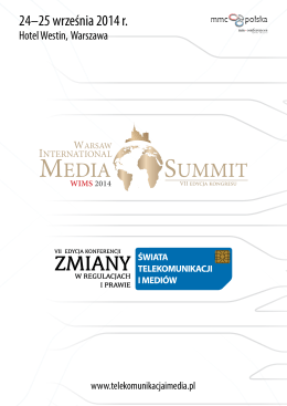 WIMS 2014 - Warsaw international Media Summit