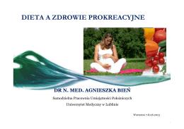 Dieta a zdrowie prokreacyjne - Agnieszka Bień