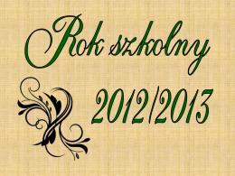 2012/2013 (cz I) - Liceum Ogólnokształcące im. Henryka