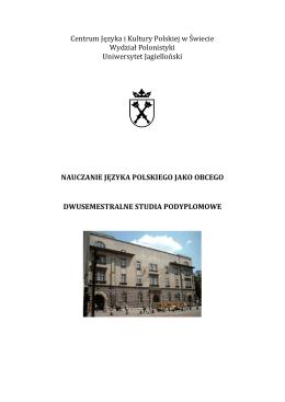 Centrum Języka i Kultury Polskiej w Świecie Wydział Polonistyki