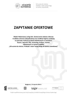 zapytanie ofertowe - Polskie Towarzystwo Ekonomiczne Oddział w