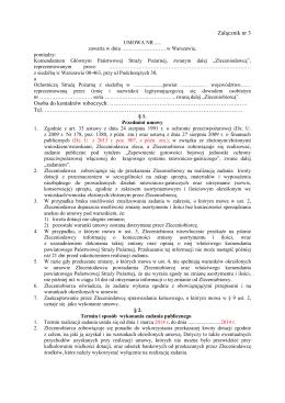 Wzór umowy na dotację dla OSP w KSRG