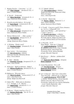 1. Bogdan Dowlasz – Concertino – cz. I, II wyk. Filip Urbaniak