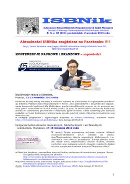 ISBNik 2013.09.02 - Biblioteka Wyższej Szkoły Biznesu