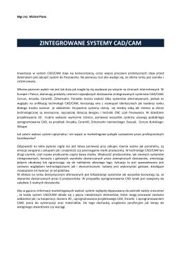 ZINTEGROWANE SYSTEMY CAD/CAM