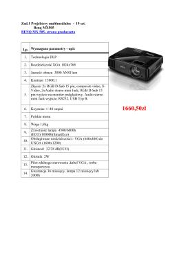 Projektory multimedialne