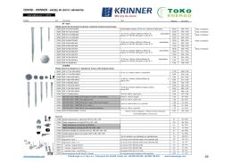 CENNIK - KRINNER - wkręty do ziemi i akcesoria